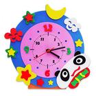 Набор для творчества из фоамирана KK-CL004 Часы «Панда» 24*24 см