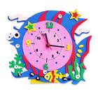 Набор для творчества из фоамирана KK-CL008 Часы «Рыбка» 24*24 см