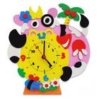 Набор для творчества из фоамирана KK-CL010 Часы «Бурёнка» 24*24 см