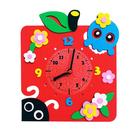Набор для творчества из фоамирана KK-CL012 Часы «Яблоко» 24*24 см