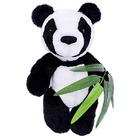 Набор мягкая игрушка ММ-023 «Панда с бамбуком» 30 см