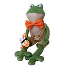 Набор текстильная игрушка Ваниль FR001 «Frog's Story. Лягушонок в оранжевой бабочке» 41 см