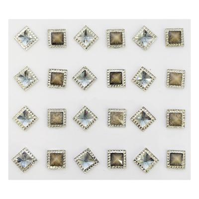 Наклейка декоративная ASS5076  квадрат 10 мм 7708338 в интернет-магазине Швейпрофи.рф