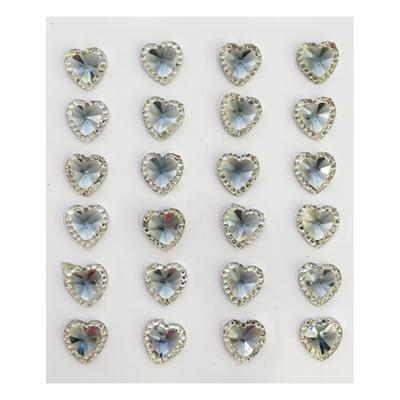 Наклейка декоративная ASS5078  сердечки 13 мм 7708339 в интернет-магазине Швейпрофи.рф