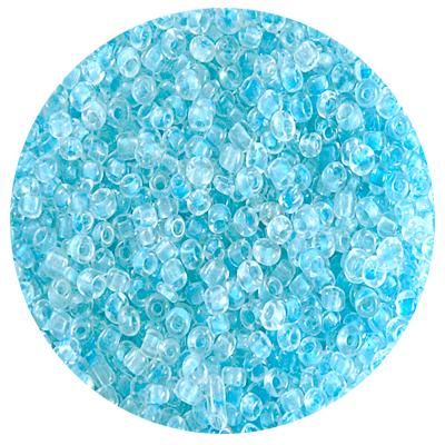 Астра бисер (уп. 20 г) №0136 голубой с цветным центром в интернет-магазине Швейпрофи.рф