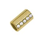 Наконечник мет. ГФУ 6103 15*8.5 мм (уп. 20 шт.) золото