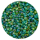 Астра бисер (уп. 20 г) №0167В зеленый прозрачный радужный