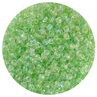 Астра бисер (уп. 20 г) №0212 зеленый с цветным радужным центром