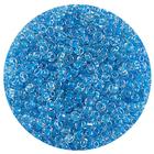 Астра бисер (уп. 20 г) №2208 голубой с цветным центром
