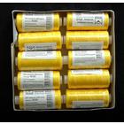Нитки п/э №20/2 Микрон 180 м №385 желт.