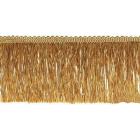 Бахрома 0390-0310  63 мм (уп. 25 м) 189 бежевый/золотой