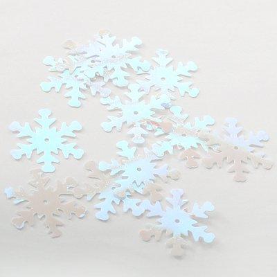 Пайетки «Снежинки» крупн. (уп. 5 г) перелив. в интернет-магазине Швейпрофи.рф