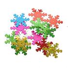 Пайетки «Снежинки» крупн. (уп. 5 г) разноцветные