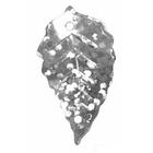 Пайетки «фигурки» Астра листик 23*18 мм (уп. 10 г) 50112 серебр.