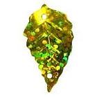 Пайетки «фигурки» Астра листик 23*18 мм (уп. 10 г) А20 золото