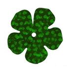 Пайетки «фигурки» Астра цветок 16 мм (уп. 10 г) 50104 яр.-зел.