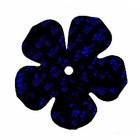 Пайетки «фигурки» Астра цветок 16 мм (уп. 10 г) А-50 черн.