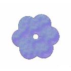 Пайетки «фигурки» Астра цветочки 10 мм (уп. 10 г) 17 голуб.