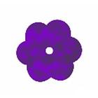 Пайетки «фигурки» Астра цветочки 10 мм (уп. 10 г) 50126 фиалка