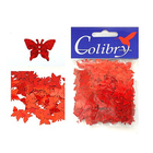 Пайетки «фигурки» Колибри бабочки (уп. 10 г) 58 красн. голограмма