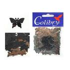 Пайетки «фигурки» Колибри бабочки (уп. 10 г) 68 черн. голограмма