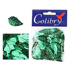 Пайетки «фигурки» Колибри листочки (уп. 10 г) 03 зеленый