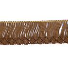 Бахрома А06 (уп. 16 м) №201 св. коричневый