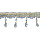 Бахрома из стекляруса SHAO-013 (уп. 11,89 м) голубой