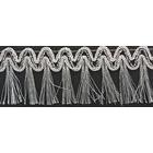 Бахрома металлизирован. 308 40 мм (уп. 16,4 м) серебро