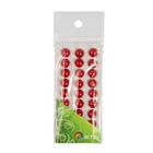 Полубусы клеевые 10 мм жемчуг 7704129 (уп. 27 шт.) 1 красный