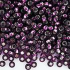 Бисер Preciosa Чехия (уп. 10 г) 27060 фиолетовый с серебр. центром