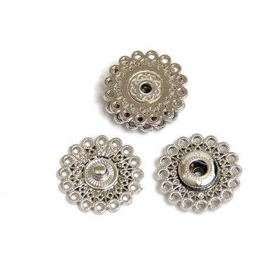 Кнопки-пуговицы H2165S 21 мм  кнопки никель в интернет-магазине Швейпрофи.рф