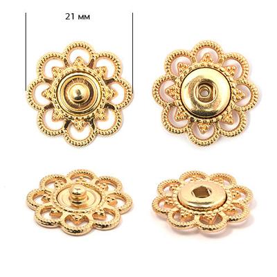 Кнопки-пуговицы TBY-BJ114 21 мм золото в интернет-магазине Швейпрофи.рф