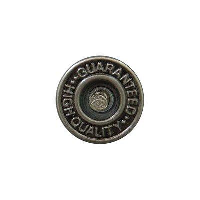 Пуговицы джинс. «Guaranted» 14 мм лом./нож. 3039 т. никель в интернет-магазине Швейпрофи.рф