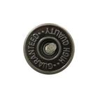 Пуговицы джинс. «Guaranted» 17 мм лом./нож. 3034 т. никель