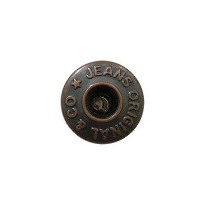Пуговицы джинс. «JEANS» 14 мм медь в интернет-магазине Швейпрофи.рф