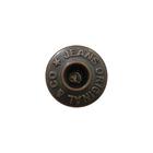 Пуговицы джинс. «JEANS» 14 мм медь