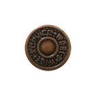Пуговицы джинс. д.17 мм World медь П 3126