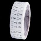 Размерники №42-64 клеевой рул. 250 шт
