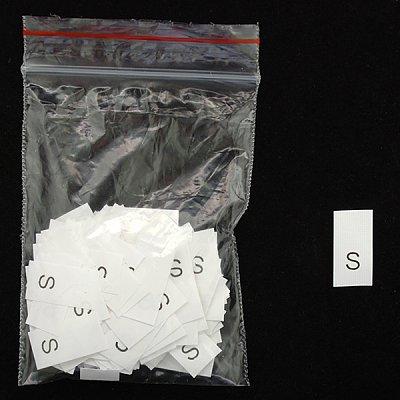 Размерники в пакетике (уп. 1000 шт.) «S» белый в интернет-магазине Швейпрофи.рф