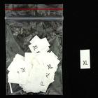 Размерники в пакетике (уп. 1000 шт.) «XL» белый