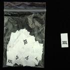 Размерники в пакетике (уп. 1000 шт.) «XXL» белый