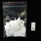 Размерники в пакетике (уп. 1000 шт.) №48 белый