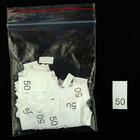 Размерники в пакетике (уп. 1000 шт.) №50 белый