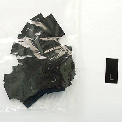 Размерники в пакетике (уп. 200 шт.) «L» черный в интернет-магазине Швейпрофи.рф