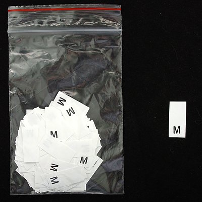 Размерники в пакетике (уп. 200 шт.) «M» белый в интернет-магазине Швейпрофи.рф