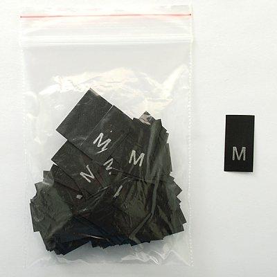 Размерники в пакетике (уп. 200 шт.) «M» черный в интернет-магазине Швейпрофи.рф