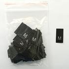 Размерники в пакетике (уп. 200 шт.) «M» черный