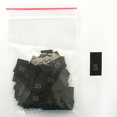 Размерники в пакетике (уп. 200 шт.) «S» черный в интернет-магазине Швейпрофи.рф