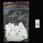 Размерники в пакетике (уп. 200 шт.) «XS» белый